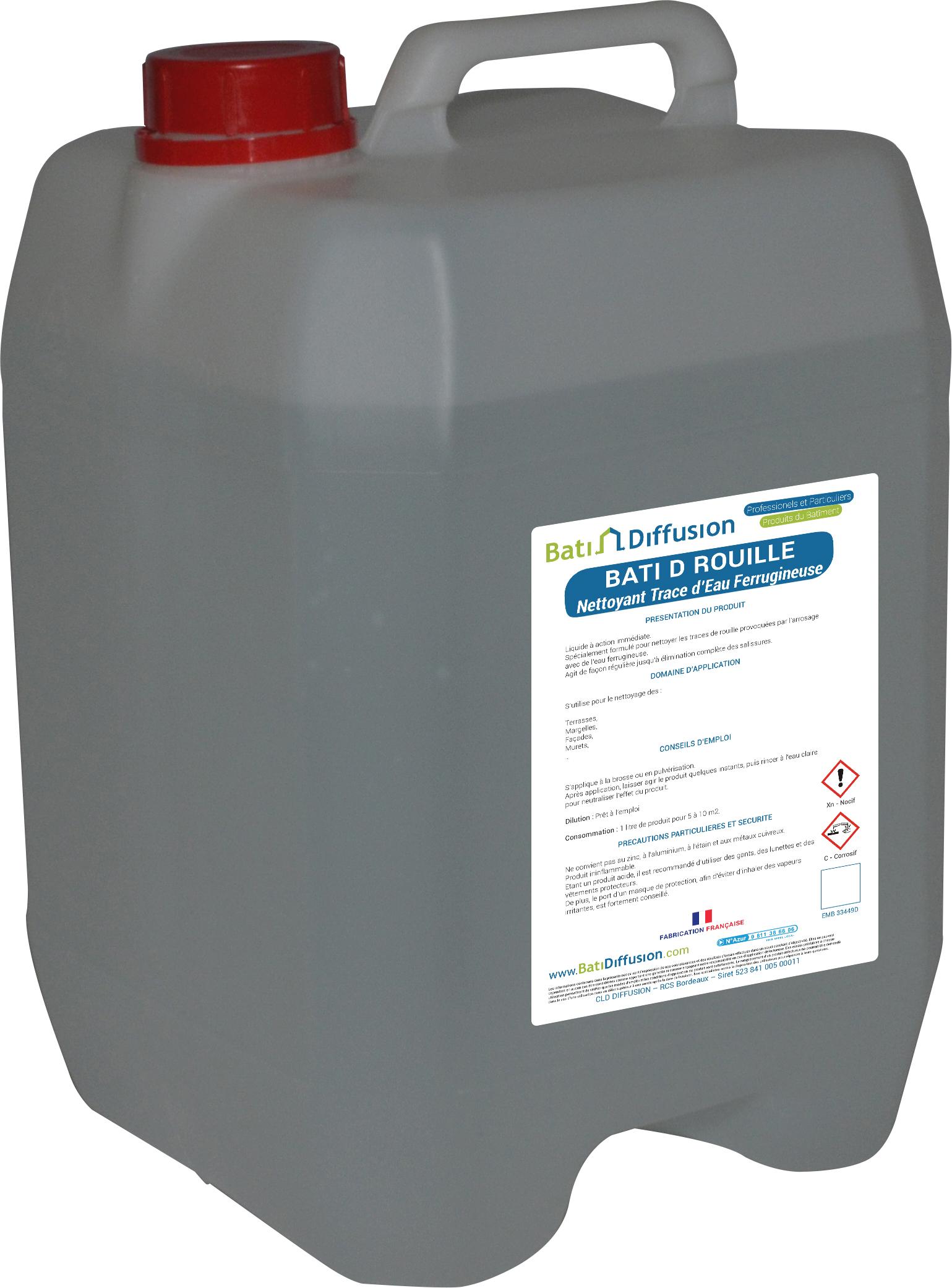 Bati d rouille nettoyant trace d 39 eau ferrugineuse bati diffusion - Nettoyer plaque electrique rouille ...